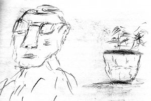 Drawing by Harvey Dog for the poem The Room