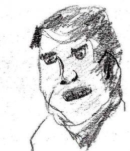 Paddy McGuinn. Drawing by Harvey Dog