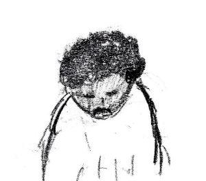 Sagging Shoulders - drawing by Harvey Dog 2019