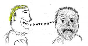Hate - Drawing by Harvey Dog 2019
