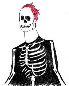 Skeleton Dreams - drawing by Harvey Dog 2019