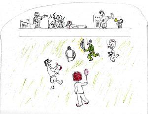 I Attract Weirdos 2 - drawing by Harvey Dog 2020