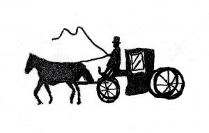 Horse & Buggy Show - drawing by Harvey Dog 2020