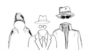 Invisible Men - drawing by Harvey Dog 2020