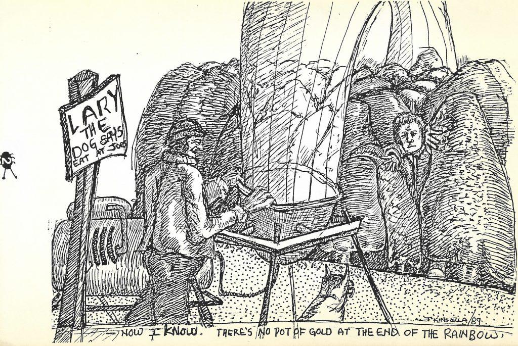 Left-Handed Approach (art by John Kinsella) 1989