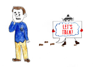 Let's Talk - drawing by Harvey Dog 2020