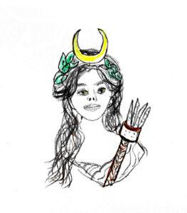 Goddess - drawing by Harvey Dog 2020