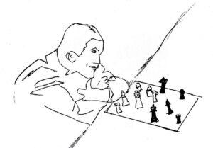 Strategic Planning - drawing by Harvey Dog 2021