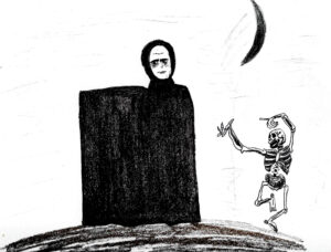 The Seventh Seal - drawing by Harvey Dog 2021